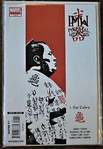 Immortal Weapons #1 Fat Cobra (2009 Marvel Ltd.Series) DAVID AJA  Cover VF+