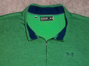 Men's NWOT UNDER ARMOUR STORM Loose 1/4 Zip Pullover 2XL HEATHER GREEN w/UA Logo