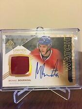 2014-15 Michael Bournival UD SP Authentic 44/100 Future Watch Auto Patch
