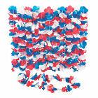 Patriotic Plastic Flower Leis - 50 Pc. - Apparel Accessories - 50 Pieces