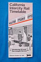 Amtrak - California Intercity Rail Timetable - Oct 26, 1986