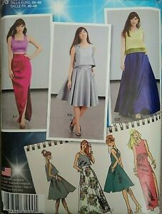 2015 Simplicity Project Runway Prom Skirt Tops Sewing Pattern 1099