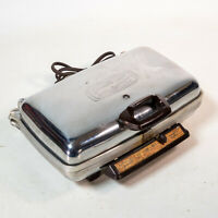Vintage General Electric Automatic Grill Waffle Maker Chrome 14G42 USA Made