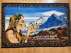"Vintage 1970's HAVATI Woman And Unicorn Wall Tapestry 53"" x 35"""