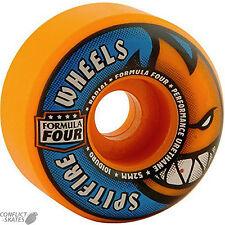 "SPITFIRE ""Formula Four"" Radials Skateboard Wheels 101a 52mm ORANGE BLAST Park F4"