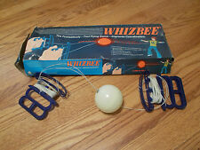Vintage Whizzbe String and ball game for two players, Good Condition w/orig. box