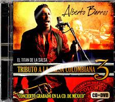 Alberto Barros Tributo a La Salsa Colombiana Vol 3   BRAND NEW SEALED CD /DVD
