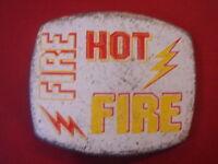 BOUCLE DE CEINTURE HOT FIRE POUR CEINTURE CUIR DE 4 CM LARGE  NEUF