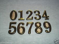 50MM 2 INCH BRASS PLASTIC HOUSE FRONT DOOR HOTEL ROOM NUMBERS/ SELF ADHESIVE