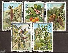 Spain Edifil # 2085/2089 Flora / flowers