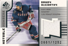 2001-02 SP Authentic Notable Numbers SANDY McCARTHY JSY