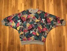 Teddi Vintage 80s/90s Geometric Blouse 3/4 Sleeve Women's Size Large