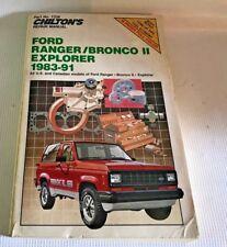 Chilton's Repair Manual Ford Ranger/Bronco II Explorer 1983-91 No 7338