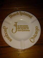Vintage JACQUES French CHICAGO Restaurant ASHTRAY by ROYAL CHINA underglaze USA