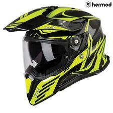Airoh Commander Dual Sport Motorcycle Motorbike Helmet - Carbon Yellow