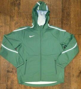 $140 Nike Hypershield Team Woven Hooded Jacket Running Green/Reflective Men's M