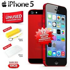 New in Sealed Box Factory Unlocked APPLE iPhone 5 Dark Red 64GB 4G Smartphone