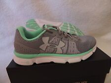 NIB WOMENS UNDER ARMOUR MICRO G SPEED SWIFT RUNNING~SNEAKERS~SHOES~7.5~grey