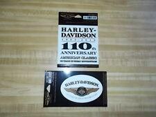 2 Harley Davidson 110th Anniversary Decal Sticker Licensed Harley Davidson