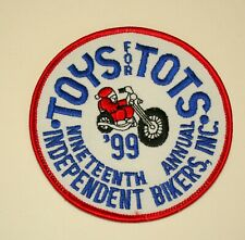 Toys For Tots Independent Bikers Inc MotorCycle Bike Run Biker Patch New NOS '99