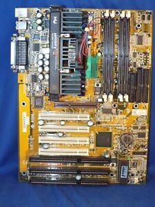Vintage Soyo 212E Motherboard w/ Intel Pentium II MMX Chip