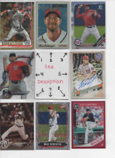 Washington Nationals * SERIAL #'d Rookies Autos Jerseys ALL CARDS ARE GOOD CARDS