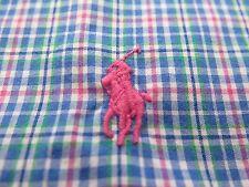 Polo Ralph Lauren Long Sleeve Cotton Blue Plaids Casual Shirt 4XB XXXXL Big Man