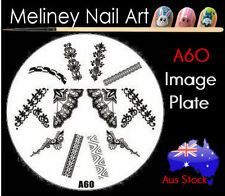 A60 Stamping Nail Art Image Plate Design Round XL Stencil metal