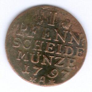 Preußen Friedrich Wilhelm II. (1786-1797) 1 Pfennig 1797 A. Olding 151