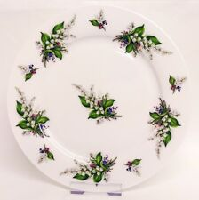 "Lily of the Valley Plates Set of 6 Fine Bone China 10.5"" 27 cm Plates Decor UK"