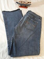 Old Navy Brand Womens Low Waist Stretch Jeans Size10 Regular Boot Cut Blue