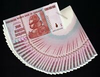 30 x 5 Billion Dollars Banknotes Zimbabwe Consecutive Serial Numbers Almost UNC