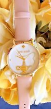 New~KATE SPADE NEW YORK BEIGE METRO VANCHETTA  GENIE'S LAMP LEATHER STRAP WATCH