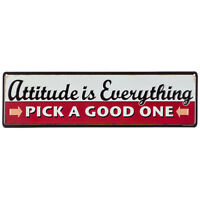 Attitude is Everything Pick a Good One Metal Tin Sign Retro-Vintage.