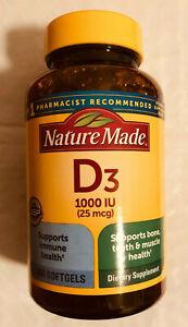 Nature Made Vitamin D3 1000 IU, 650 Softgels