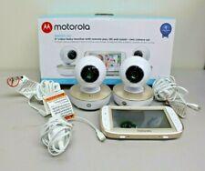 Motorola MBP50G2 5 inch Portable Video Baby Monitor 2 Cameras