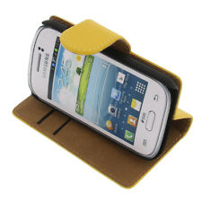 Funda para Samsung Galaxy Joven 2 Book Style Protectora de Móvil Libro Amarillo