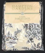 "Hampton Gardens by Raymond Waites Round Tablecloth 70"" Diameter New"