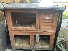 rabbit guinea pig hutch With Run/cage And House