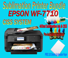 Large Format A3 Epson Wf-7710 Sublimation Printer Bundle,100 A3 Sub Paper,Ciss