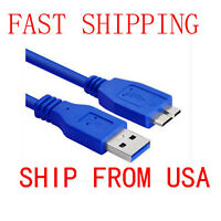 3ft USB 3.0 Charger Data SYNC Cable Cord Lead For WD Elements HDD WDBPCK0010BBK