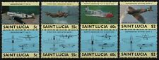 St. Lucia 1985 - Mi-Nr. 763-770 ** - MNH - Flugzeuge / Airplanes