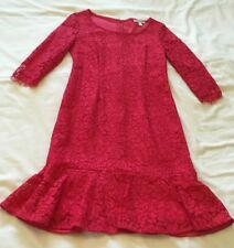 Beautiful Red Lace Dress by Jacques Vert Size 8 Petite