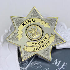 US SHIP The Walking Dead TV Series King County Sheriff Metal Badge Pin