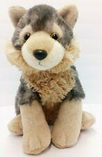 "Grey tan Wolf Puppy Plush Stuffed Animal 13"" Fluffy Original"