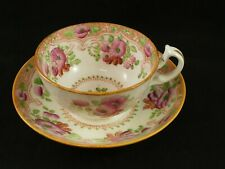 Antique 19th Century Cup & Saucer Painted Roses