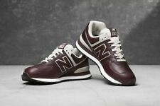 NEW BALANCE ML574LPB CLASSIC LEATHER SHOES DARK BROWN US 10.5