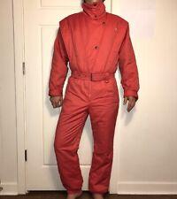 Vtg 70s 80s Lisch Apres Ski One Piece Snow Suit Bib retro Snowsuit Womens Large