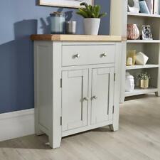 Modern Grey Solid Wood 1 Drawer 2 Door Sideboard Cupboard Living Furniture