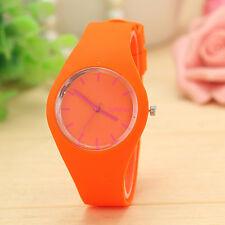 Unisex Women Men Watch Stripe Sports Silicone Watches Wristwatch fashion Gift